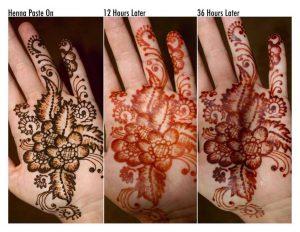 Henna Tymczasowy Tatuaż Henna Temporary Tattoo Travel
